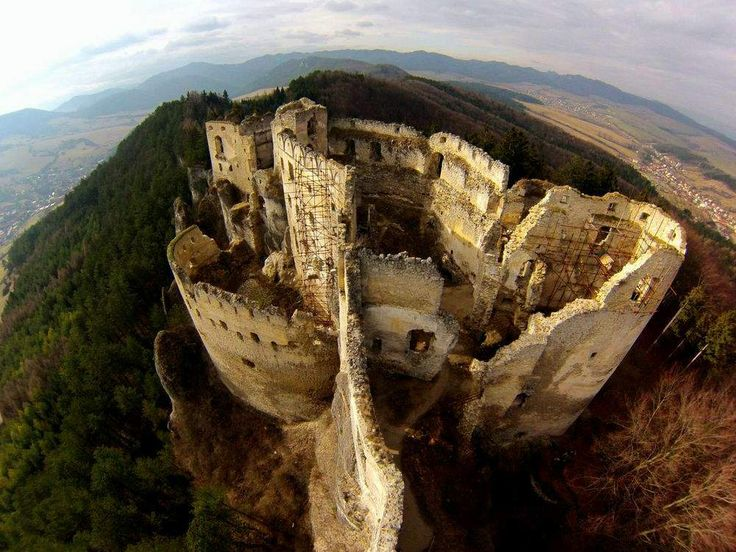 Lietava Castle Slovakia  Birth eye view.
