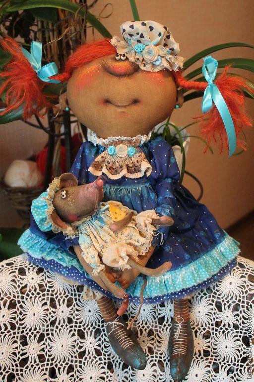 Купить Качайте меня,качайте!... - разноцветный, текстильная кукла, ароматизированная кукла, интерьерная кукла, мышка