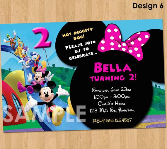 minnie mickey mouse clubhouse invitation