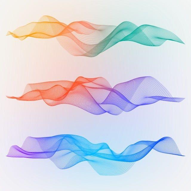 مجردة موجات شبكة التدرج 3d السلكي الأشكال المتموجة التكنولوجيا والأشياء الزخرفية المستقبلية Png و Psd Geometric Background Abstract Line Art Abstract Waves