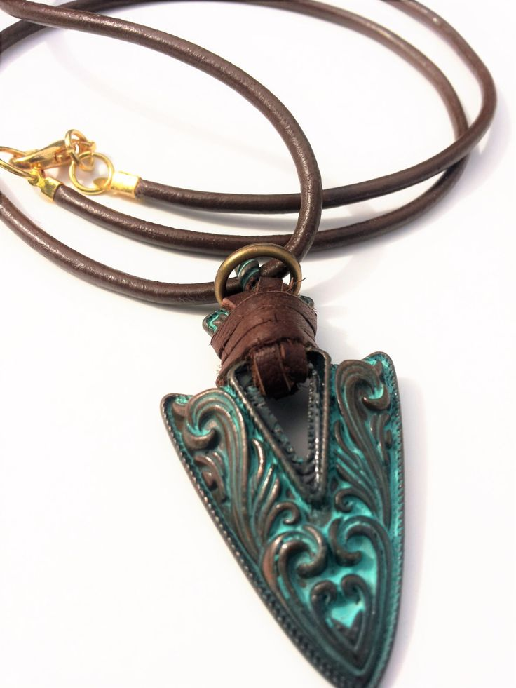 Man Necklace, Boho Necklace, Mens Necklace, Man Jewelry, Arrowhead Necklace…
