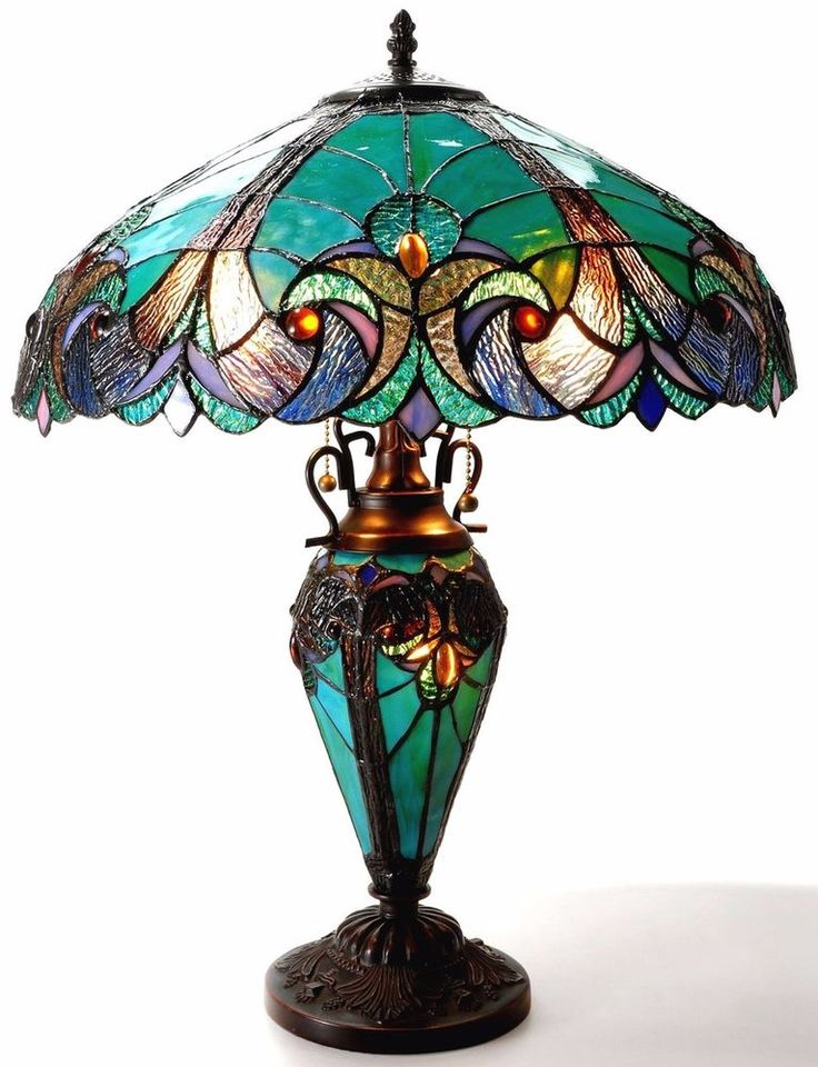 Table Lamp Cut Glass Bowl Shade Victorian Style Art Classic Vintage Design Light