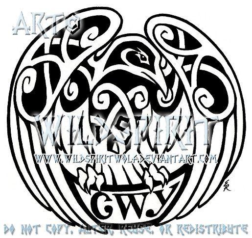 25 best ideas about celtic raven tattoo on pinterest