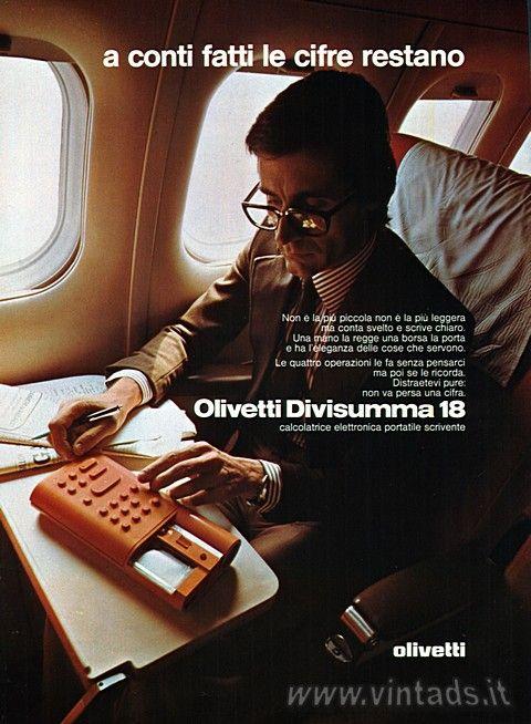 a conti fatti le cifre restano Olivetti Divisumma 18, 1975