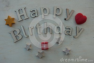 Unique Happy Birthday message with wooden letters