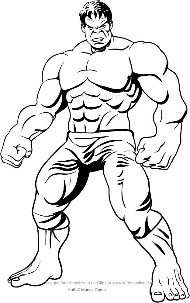 Dibujo de hulk frontal para imprimir y colorear desenhos for Disegni da colorare di spiderman