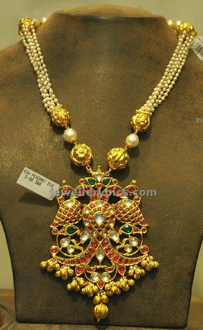 Suhasini in gundla haram jewellery designs - 3 Gold Kundan Jewelry Latest Jewellery Designs
