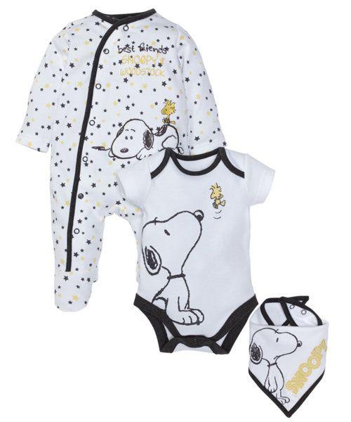 Snoopy Three Piece Set - baby (newborn-12 mths) - clothing