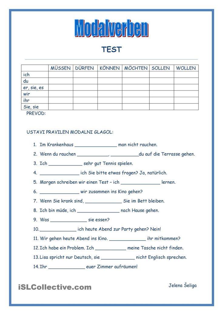 Modalverben - Test