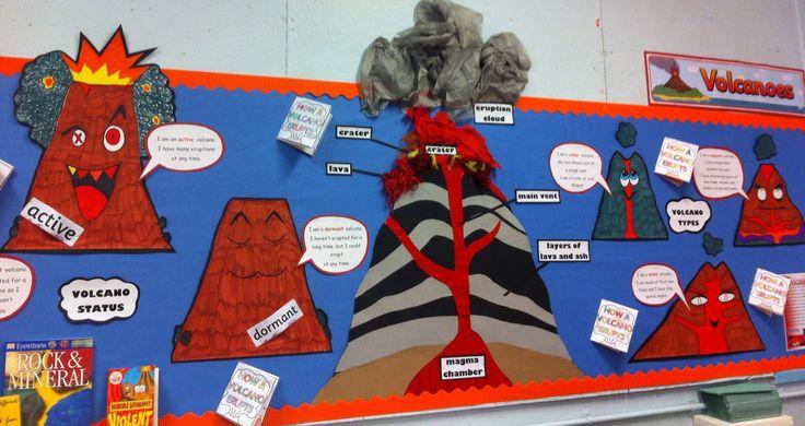 Our volcano display KS2