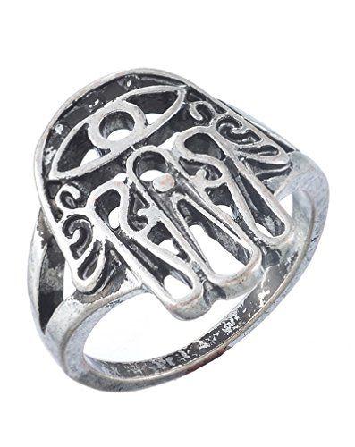 MJartoria Antique Silver Color Filigree Hamsa Hand Ring Size of 8 MJartoria http://www.amazon.com/dp/B00XMCXMG2/ref=cm_sw_r_pi_dp_sevvvb19JHHV1