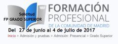 Formación Profesional. Admisión curso 2017-2018 #Madrid #FP #FormaciónProfesional