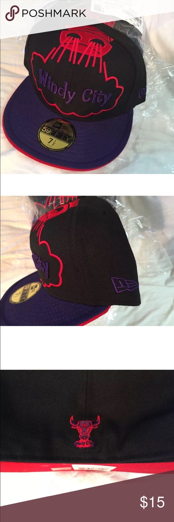 NWT Chicago bulls windy city fitted 59fifty hat Brand new with tag size 7 1/2 new era New Era Accessories Hats