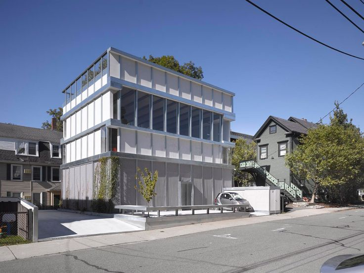 Parking garage extension forms home for architects Ensamble
