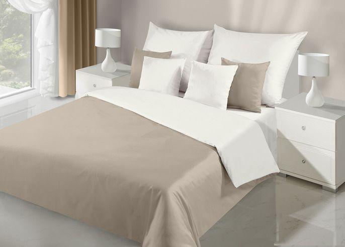 Saténová posteľná obliečka Nova béžová/krémová