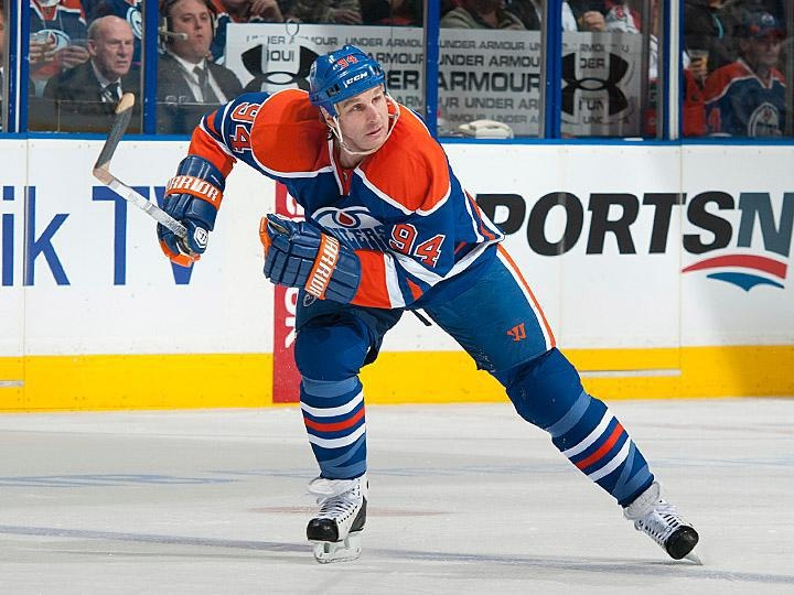 Raising one of the good old boys jerseys tonight :( Aim salutes you Smytty #94 - Ryan Smyth - Edmonton Oliers
