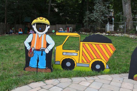 Construcción trabajador foto stand Prop por LittleGoobersParty