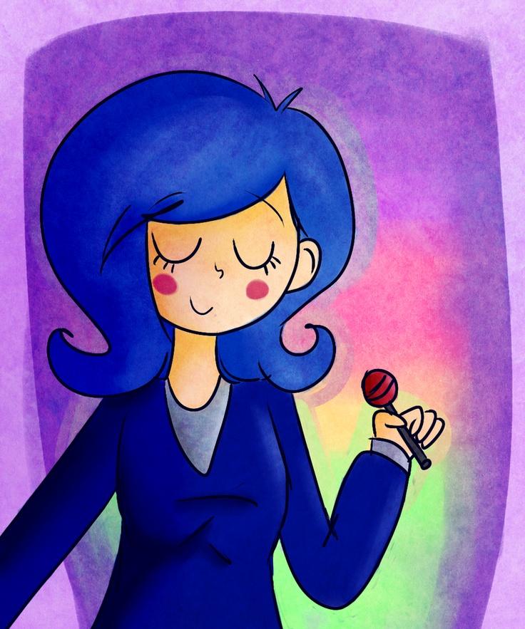 """La Koneko me regaló este dibujito de la Pili, de mi webcomic """"Normal."""" :3"""