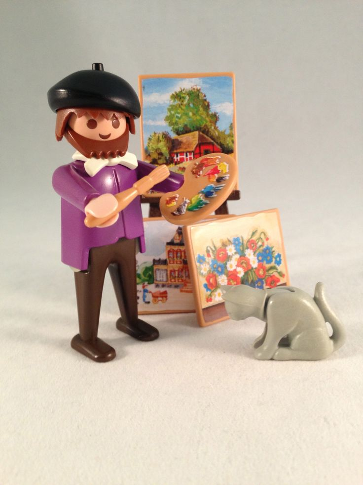 Playmobil - Victorian Dollhouse Artist - vintage 1990's - set complete and very rare #5404. Our first posting on Ebay. . . it sold within an hour of being posted for $22.99 + shipping.