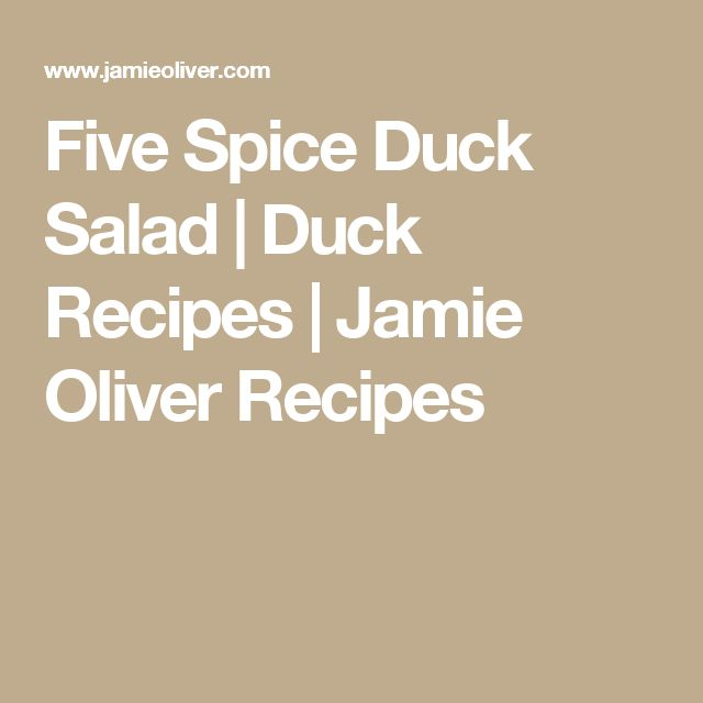 Five Spice Duck Salad | Duck Recipes | Jamie Oliver Recipes