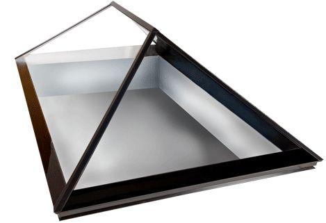 Double hipped plate glass skylight