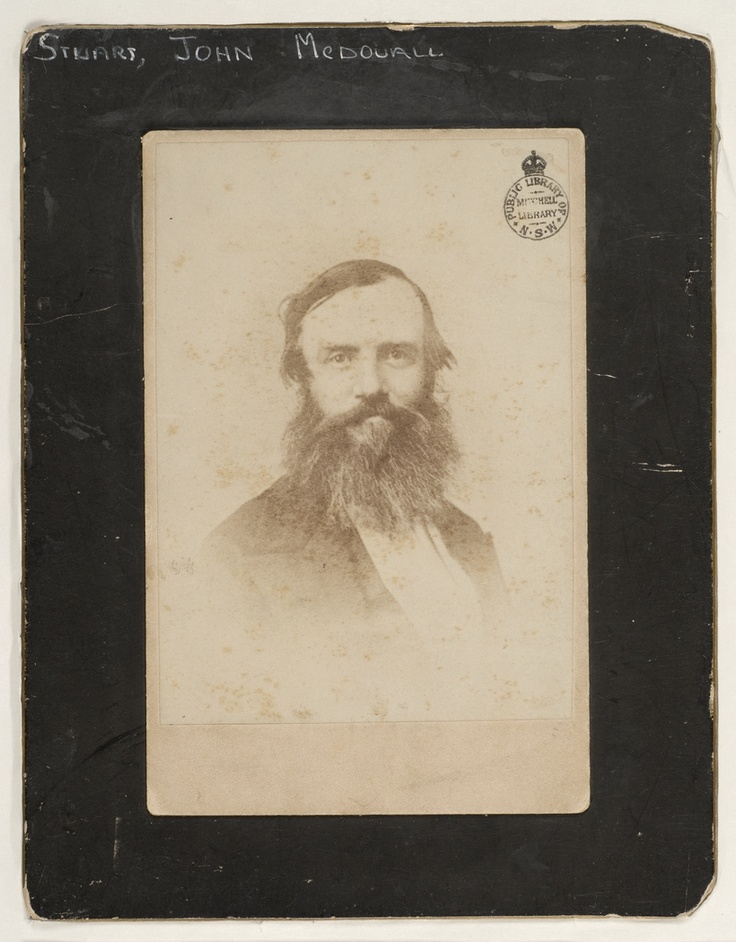 John McDouall Stuart, explorer, ca. 1860 / photographer unknown