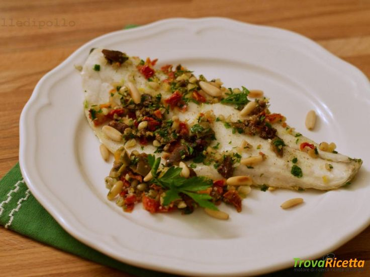 Filetto di branzino alle olive taggiasche  #ricette #food #recipes