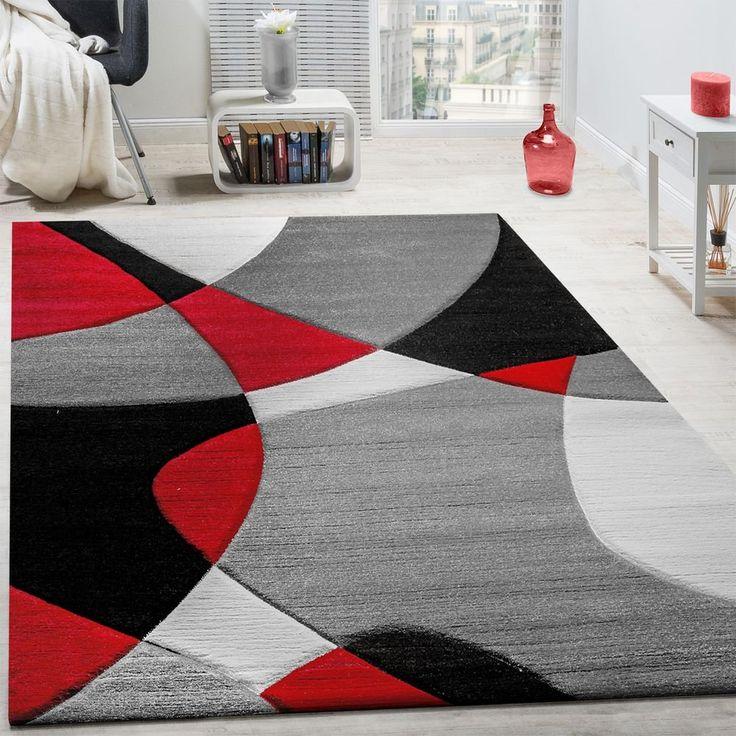 Paco Home Alfombra De Diseño Moderna Contorneada En Colores