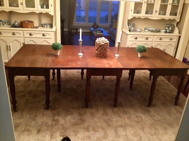 Antique Drop Leaf And Two D End Table Circa Mid 1800 S 48 Wide