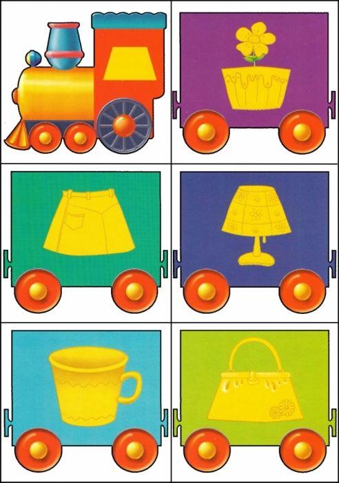 * Kleuren-vormen trein! 7-12