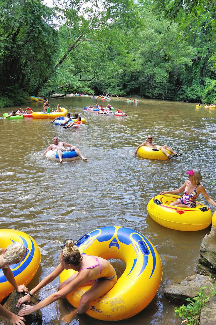 River tubing in the NC mountains near Asheville - on the Green River - top swimming hole
