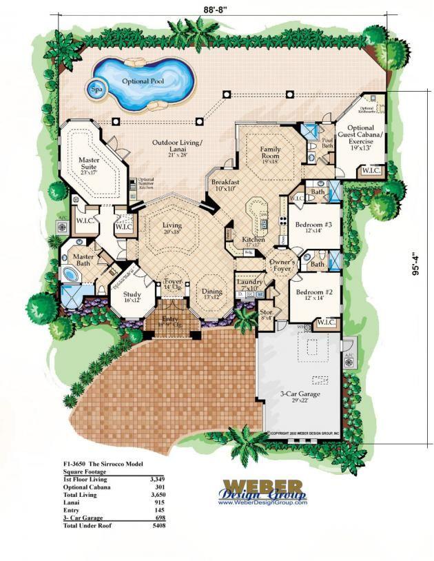 Sirocco III Home Plan (3bed/4bath/3car)