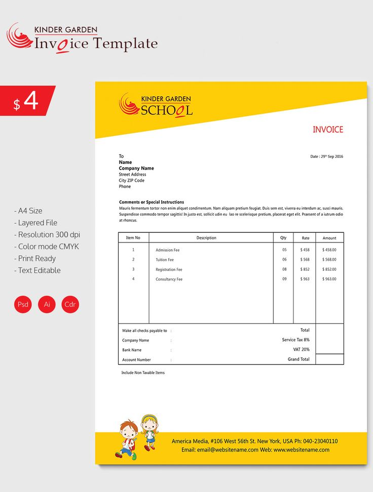 Enticing Kindergarten School Invoice Template , Invoice Template for Mac Online , Mac is a system made by Apple which is considered to be a bit exclusive so that even the moment when a user is just trying to find invoice template fo... Check more at http://templatedocs.net/invoice-template-for-mac-online