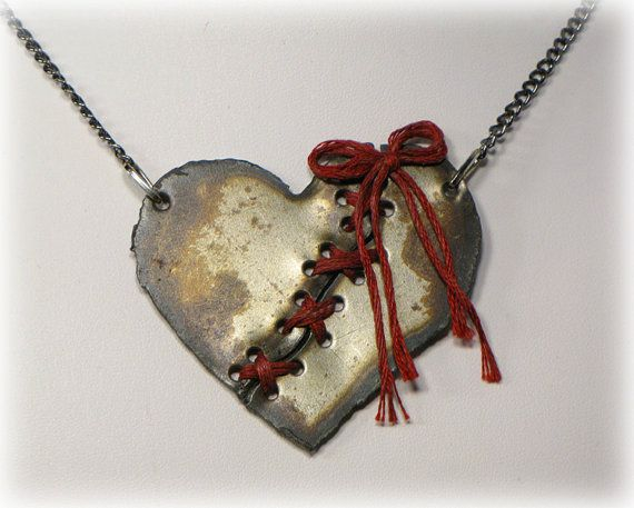 Check out this item in my Etsy shop https://www.etsy.com/ca/listing/254760666/broken-heart-necklace