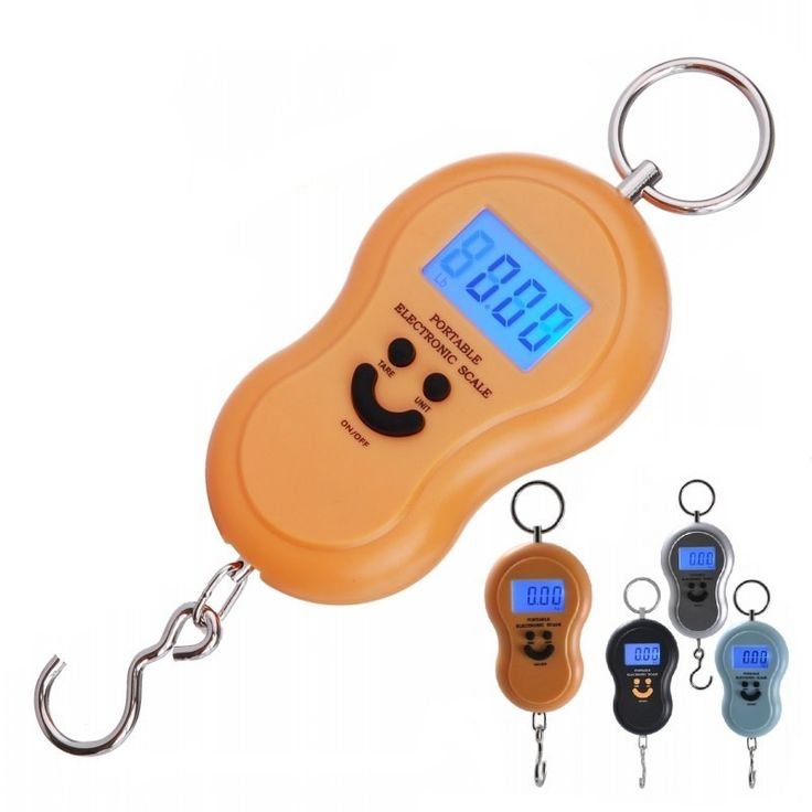 Smile Shape Electronic Digital Display LCD Weighing Scale 50kg/10g Kitchen Portable Hanging Balance Digital Display Pocket Scale