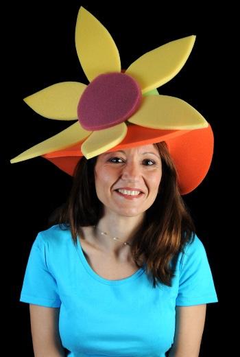 Gorro gomaespuma: Bombín con flor