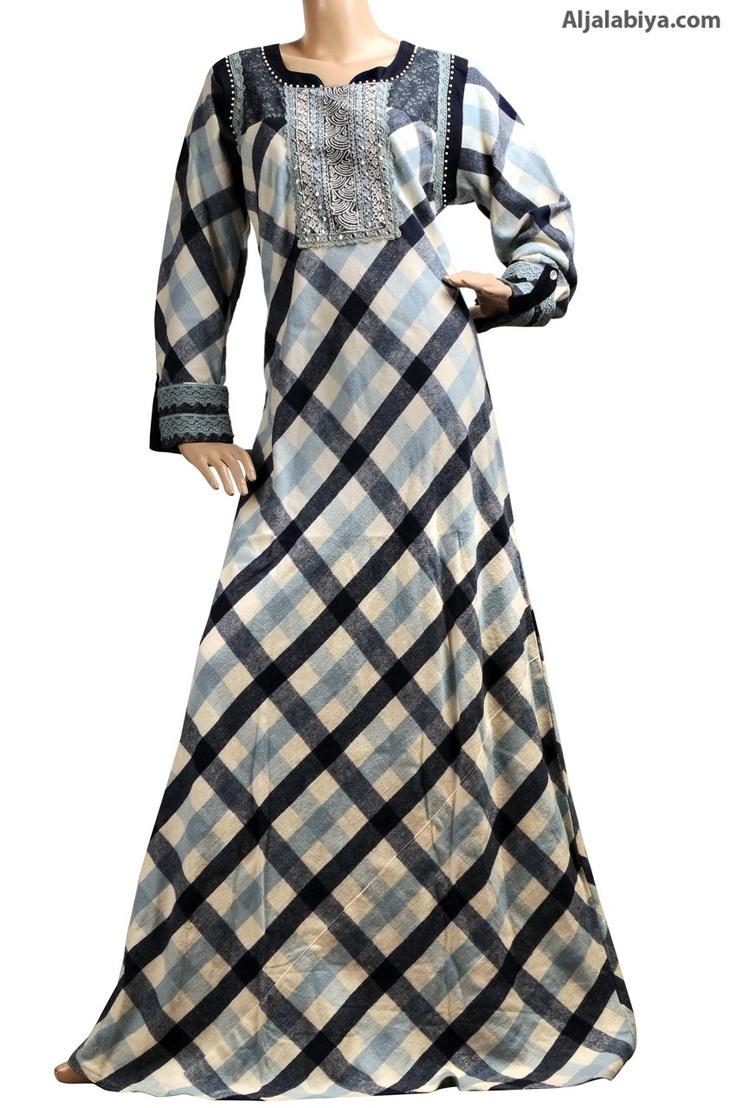 """aljalabiya.com: """"Liwa"""" Winter cotton jalabiya with colored and silver embroidery (N-12665)  $74.25"""