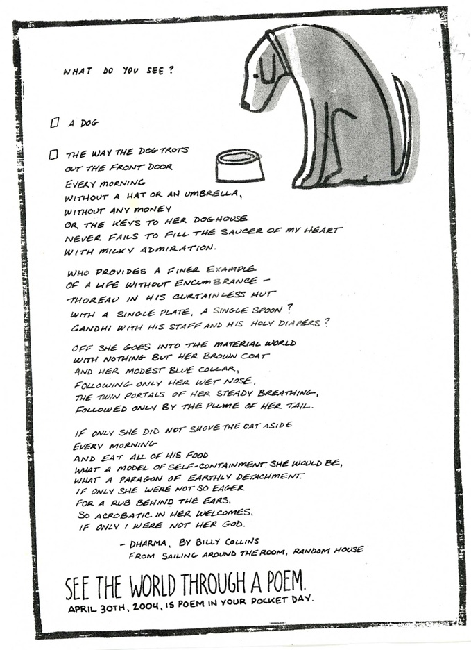 poet billy collins poem embrace Last week i came across billy collins' poem embrace -- and i learned the   collins is an american poet, born 1941 in manhattan, and was.