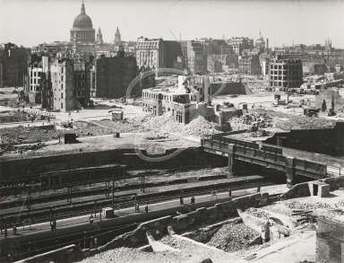 Barbican area of the City of London, 1942