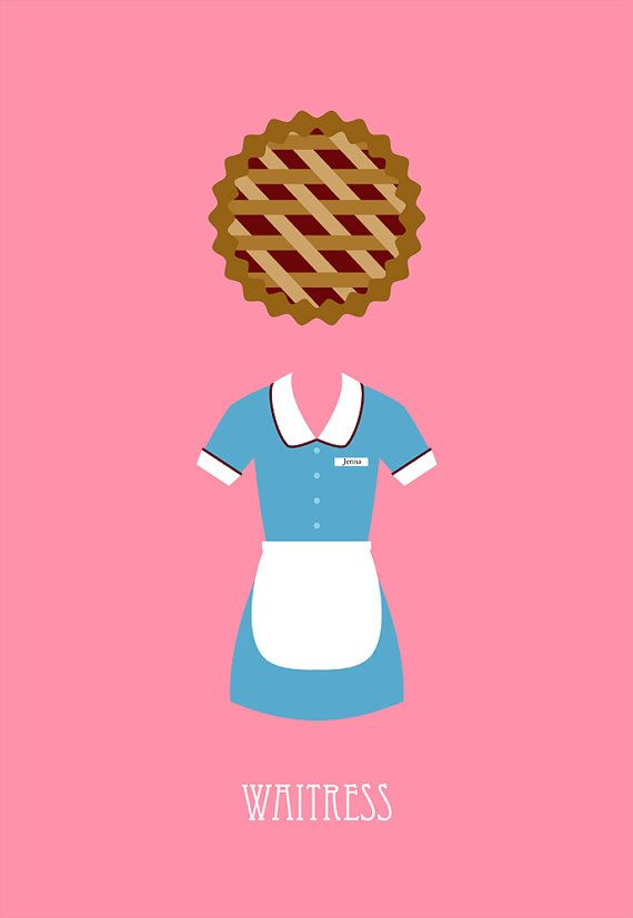 waitress movie poster postcard 4'X6' by LiveitupS2 on Etsy, $1.50
