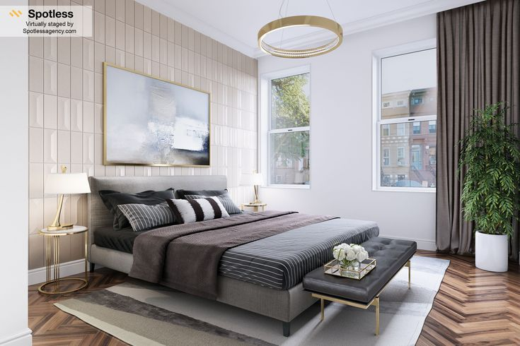 Virtual Staging Bedroom By Spotless Agency #virtualystaging #bedroom # Interior #spotlessagency #home