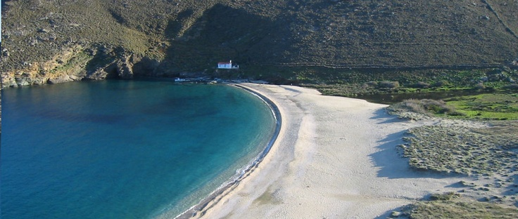 Magical place where the river meets the Aegean sea, #Andros, #Greece