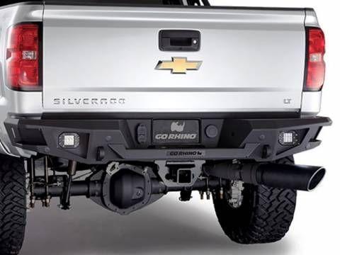 Go Rhino 28169T BR20 Rear Bumper Chevy Silverado 2500HD/3500 2011-2014