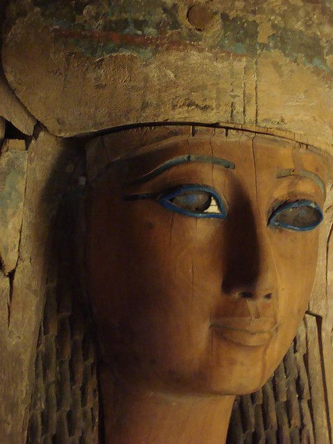 Egyptian Princess. Anthropoid Coffin of Heresenes, detail. Dynasty 26 (664-525 B.C.). Metropolitan Museum of Art, New York.