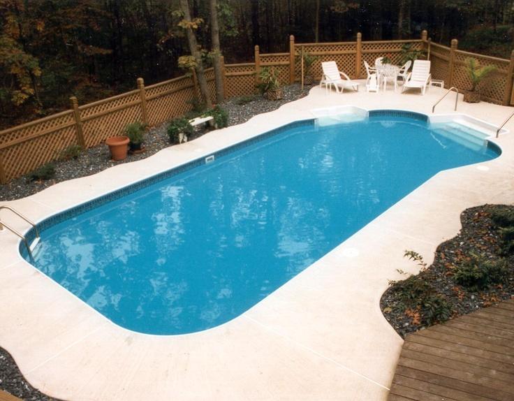 A beautiful inground swimming pool! :)