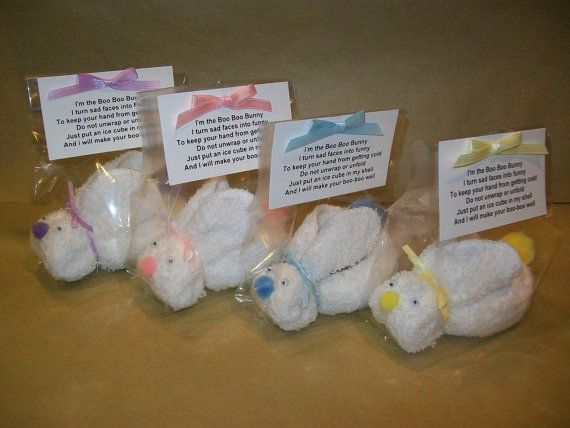 BOO BOO BUNNY  with Ice Cube and Poem  Baby by dawnstreasures