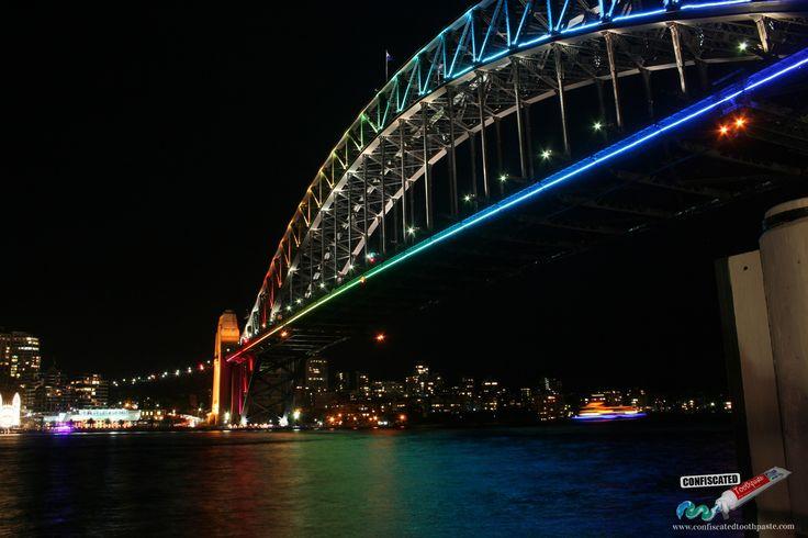 Sydney Harbour in Lights http://www.confiscatedtoothpaste.com/sydney-harbour-in-lights/