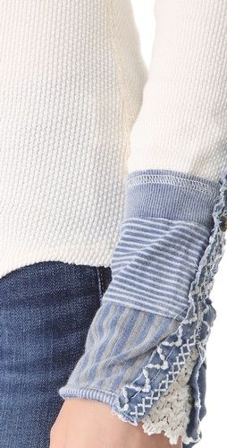 Sleeve inspiration - Free People Kyoto Cuff Thermal Top
