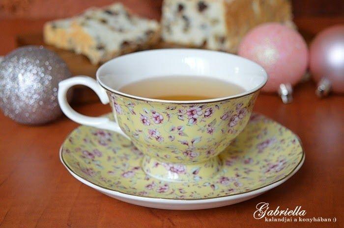 Ditsy Floral / Yellow porcelán teás szett
