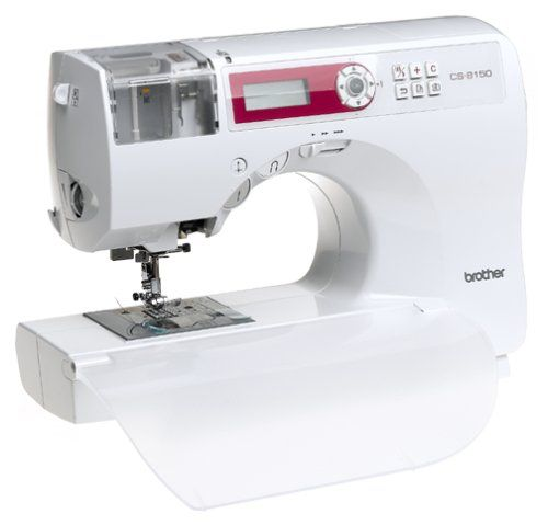 The Brother CS-8150 is a computerized sewing machine with 150 built-in stitch functions.This machine features Brother's new quick-load threading system with an easy to thread cassette system which als...